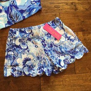 Lilly Pulitzer Dahlia Shorts in Coastal Blue